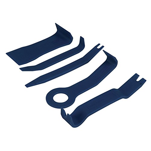 Silverline 731768 Herramientas para extraer tapicerías de vehículos, 5 pzas