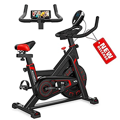 Amazon - 10% Off on Exercise Bike Stationary Indoor Cycling Bike Sturdy Super Quiet Spin Bike