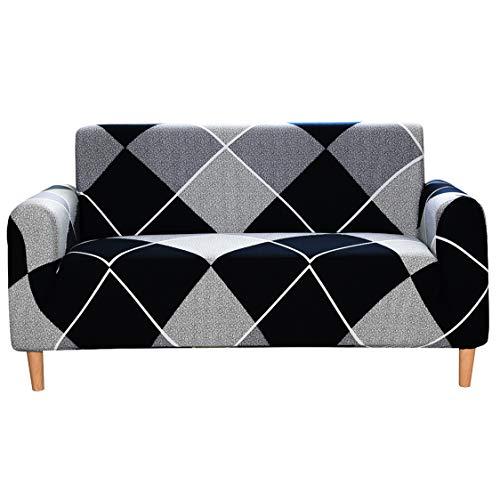 Zzh Fundas de Sofá Elasticas de 1 2 3 4 Plazas,Universal Funda Cubre Sofas Ajustables, Antideslizante Protector Cubierta de Muebles Fundas Decorativas para Sofás,Geometry,1 Seater