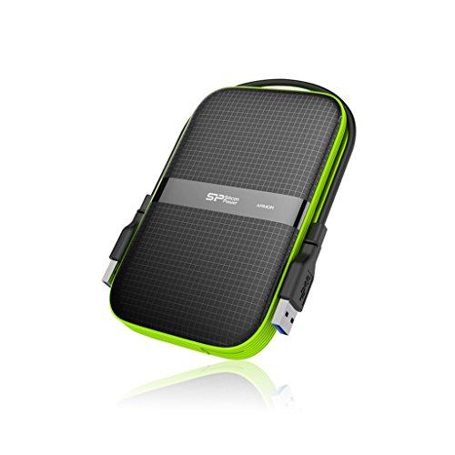"""Silicon Power - Disco Duro Externo portátil para PC y Mac Armor A60 DE 2 TB (2.5"""", USB 3.0, SATA III)"""