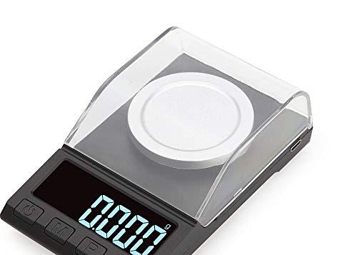 Báscula Digital De Bolsillo Batería Recargable Usb Escala De Quilate De Alta Precisión 0.001G Escala De Joyería Balanza Electrónica De Laboratorio-Versión Recargable Usb 100G / 0.001G