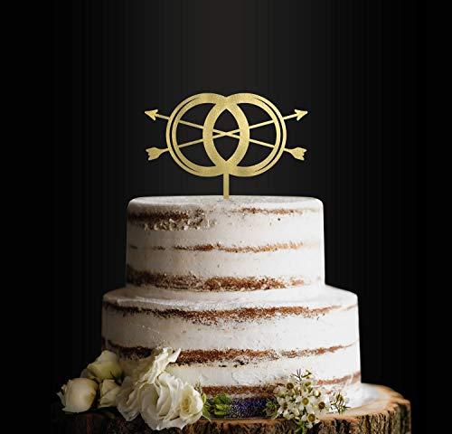 Trouwtaarttopper, Eeuwige Ringen, Verloving, Voorstel, Taarttopper, Taartdecoratie, Huwelijk, Verlovingsfeest, Bruidsdouche, Elopement