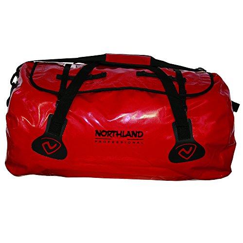 Northland Professional, Borsone impermeabile Aquatic Basic, Rosso (Red/Black), 66 x 45 x 38 cm, 90 litri