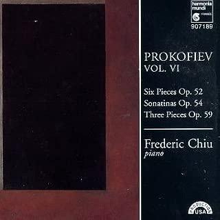 Prokofiev: Piano Works, Vol. VI: Six Pieces Op 52 / Sonatinas Op 54, No. 1 / Sonatina Op. 54, No. 2 / Three Pieces Op. 59