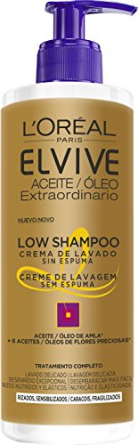 L'Oreal Paris Elvive Low Shampoo Champú, para cabello rizado - 400 ml