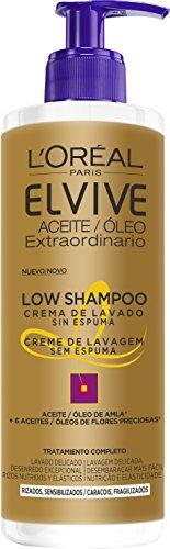 L'Oreal Paris Elvive Champú Low Shampoo Cabello Rizado - 400 ml