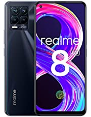 "realme 8 Pro Smartphone, Ultra Quad Camera da 108 MP, Display Super AMOLED da 16,3 cm (6,4""), Ricarica SuperDart da 50W, Grande batteria da 4.500 mAh, Dual Sim, NFC, 8+128GB, Punk Black"