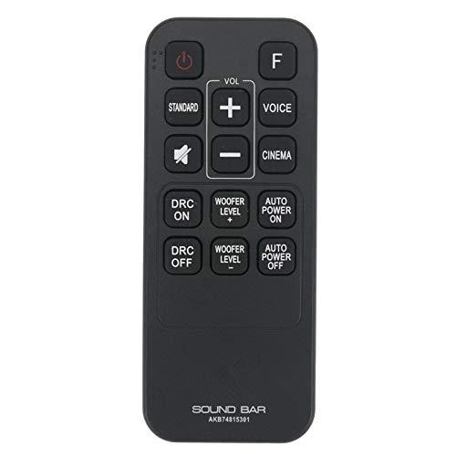 VINABTY AKB74815301 Control Remoto de reemplazo Compatible con la Barra de Sonido LG S55A3-D Las454b S45a1-d LAS453B LAS551H...