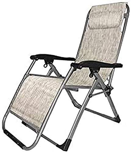 PRATIKO LIFE Tumbona con cordón, tamaño Grande, reclinable, con cojín, textileno, Color Crudo, dimensioni: 175x67x113 cm