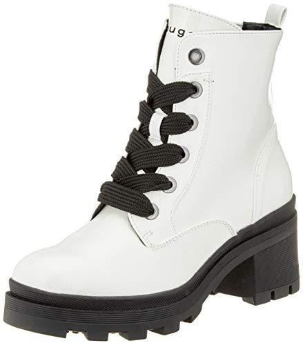 bugatti Damen 431774315700 Kurzschaft Stiefel Stiefeletten,  Weiß (Offwhite 2100),  38 EU