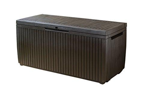 Keter Boîte de Coussin springw Ood, Marron, 123 x 53,5 x 57 cm, 305 L, 17202488