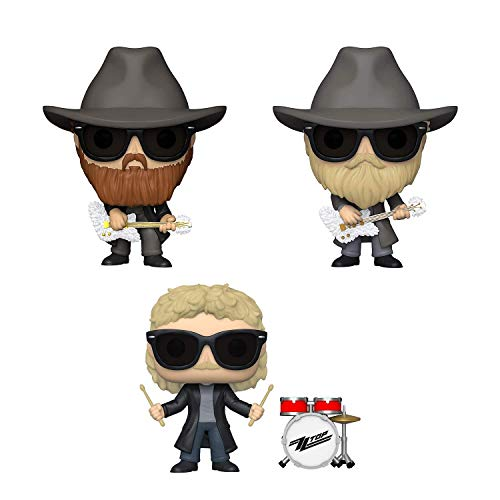 Funko Pop! Bundle of 3: ZZ Top - Billy Gibbons, Dusty Hill and Frank Beard