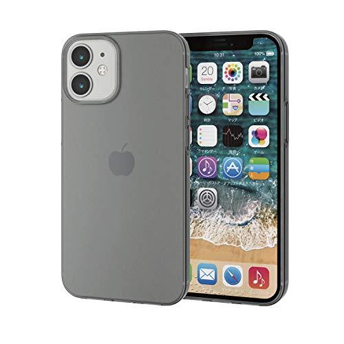 エレコム iPhone 12 mini ケース ソフト 薄型 ブラック PM-A20AUCUBK