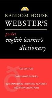Random House Webster's Pocket English Learner's Dictionary (Best-Selling Random House Webster's Pocket Reference)
