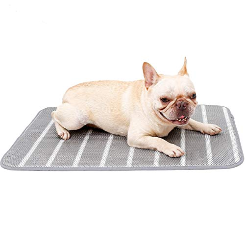 Summer Cooling Mats for Small Medium Large Dogs Cats,Breathable Washable Pet Crate Pad Sleeping Cushion for Kennel Bed,Anti-slip Pet Self Cooling Blanket for Outdoor Travel Home Avoid Overheating