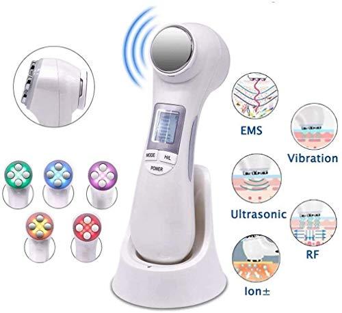 Hammer Poids de la machine de perte for l'estomac EMS Massager, 6 en 1 RF EMS Ultrason Vibration ION Rajeunir, nettoyer, lisse les ridules, les multif