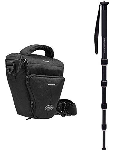Fotocamera tas set colt houder met monopod Monopod Racer CR-1300 Carbon incl. statieftas voor Canon EOS 1300D 760D 750D 700D 80D Nikon D7200 D610 D500 D5500 D5300 D3300 D3200 Sony Alpha