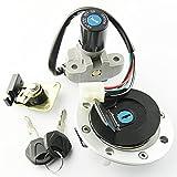 ZFDM Kit de Llave de Bloqueo de Bloqueo de Gas de Combustible del Interruptor de Encendido para Suzuki GS500 GSF250 Bandit 250 77A VS/S GSF400 GK7AA GSX400 GK79A Impulse