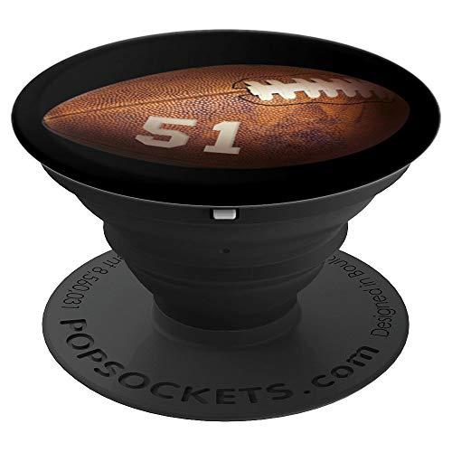 51 American Football Nummer #51 Spieler Design - PopSockets Ausziehbarer Sockel und Griff für Smartphones und Tablets