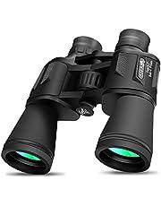 Binocular by DANMO 10x50 prisma BAK4 lente FMC prisma HD prismáticos profesionales con correa y bolsa de transporte, para observación de aves, viajes, conciertos, deportes, al aire libre