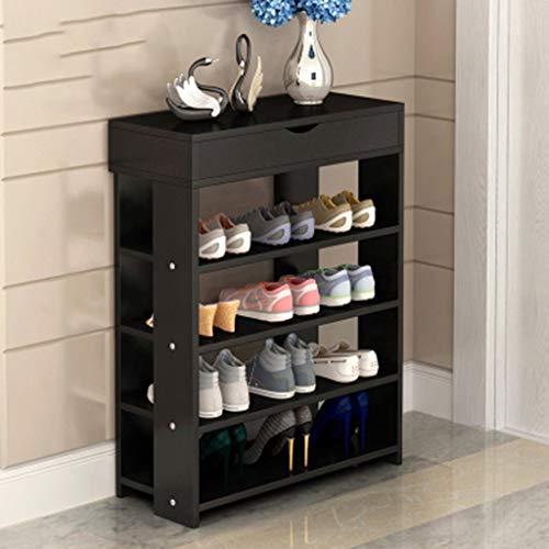Rack de Zapatos Sencillo gabinete de Almacenamiento de múltiples Capas para el hogar Porche Gabinete Mueble de Almacenamiento de múltiples Funciones Estante Paragüero Soporte de Doble cajón