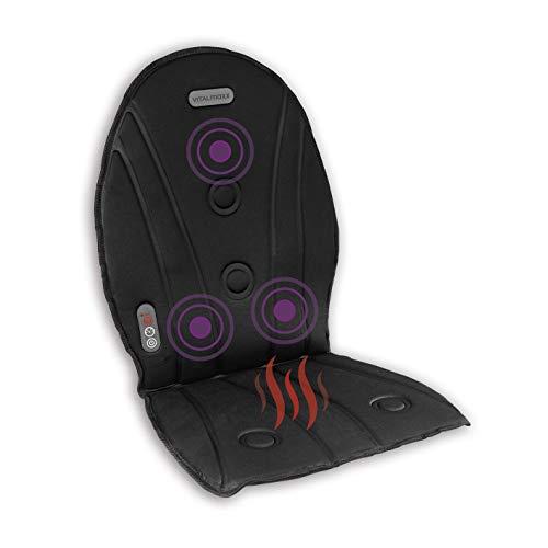 VITALmaxx Massagematte mit Wärmefunktion & verschiedene Massagearten - schwarz