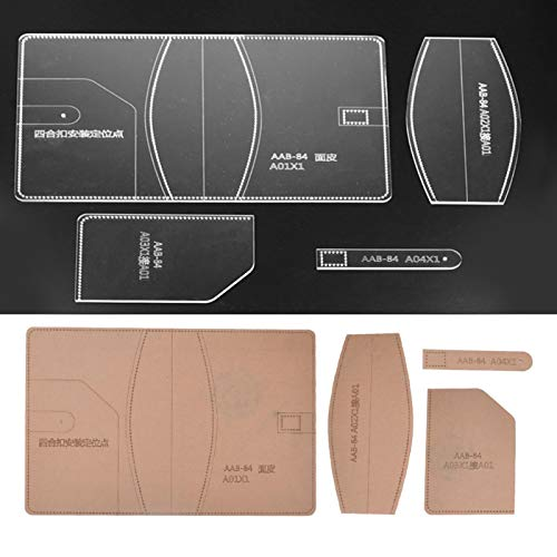 Klares Acryl-Schablonenset Klare Acryl-Schablone für das Schneiden von Kunsthandwerk aus Leder