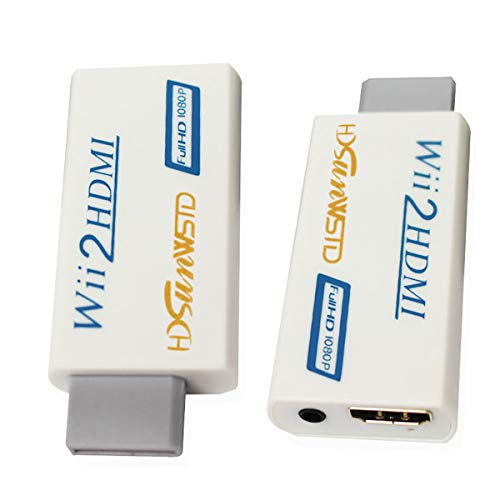 HDSUNWSTD Wii to HDMI 1080P Converter Wii2HDMI Adapter 3.5mm Audio Video Output Full HD 1080P Output