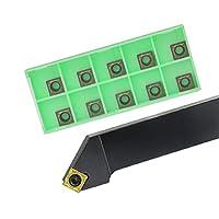 超硬インサート 1PC SSSCR1616H09 SSSCR2020K09 SSSCL2525M09外部旋削工具ホルダーSCMT炭化物インサート旋盤CNC切削工具セット (Angle : SCGT09T304 AK H01, Shank Diameter : SSSCR2525M09)