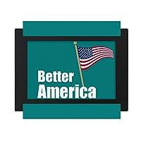 アメリカ ・アメリカ デスクトップフォトフレーム画像ブラックは、芸術絵画7 x 9インチ
