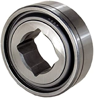 Peer Bearing GW211PPB3 Agriculture Heavy Duty Disc Harrow Bearing, Square Bore, Relubricable, Two Triple Lip Seals, 1.5