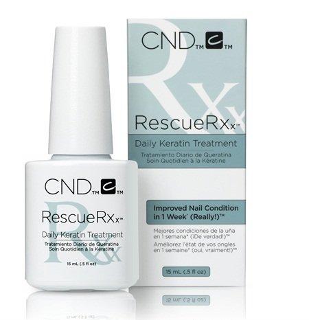 Rescue RXX Daily. 15 ml CND. Trattamento rinforzante per unghie con cheratina.