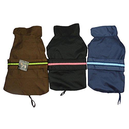 Generic Wasserdichte Hundemantel Jacke Reflektierende Weste Reflektorweste Regenmantel für Hunde - Kaffee , S