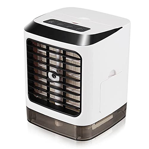 Portable Mini Air Conditioner Desktop Air Cooler Humidifier USB Mini Fan with LED Light for Home or Office