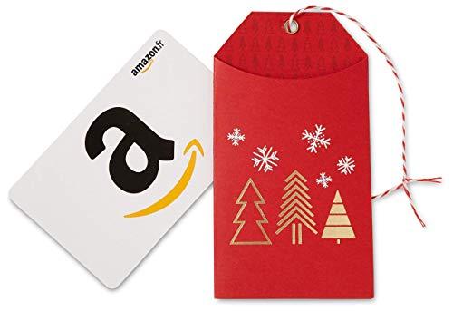Carte cadeau Amazon.fr - Dans une petite enveloppe de Noël rouge