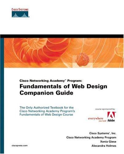Fundamentals of Web Design, Companion Guide, w. CD-ROM (Cisco Networking Academy Program)
