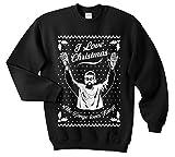 Sanfran - I Love Christmas Like Kanye Loves Kanye Top Xmas Funny Ugly Jumper Sweater (Black, Large)