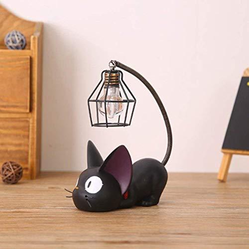 Treeshu Mini Cute Black Cat Notte Luce Lampada da Tavolo Casa,Drahtlampenschirm