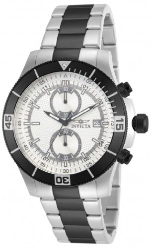 Men's Invicta 12654 Specialty Chronograph Two Tone Silver Dial Stainless Steel Watch