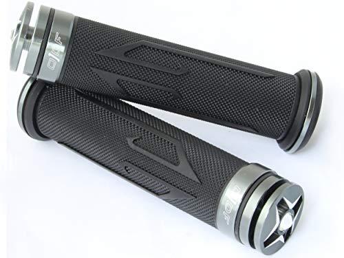 Lenkergriffe kompatibel mit Baotian Motorroller BT49QT / BT125T / BT50QT (Laser/Grau)