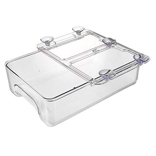 Nobranded Organizador del Cajón del Refrigerador, Caja de Almacenamiento del Refrigerador, Compartimientos Extraíbles del Diseño único, Caja de Almacenamiento D - Transparente, Individual