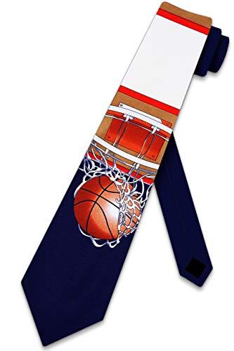 Basketball Tie Hoops Net backboard ball Necktie Corbata para hombre de Three Rooker
