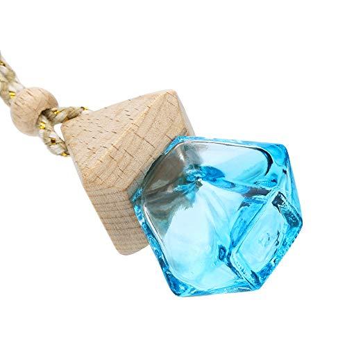 LEEDY - Ambientador Colgante para el hogar o el Coche, difusor de Fragancia, Botella de Cristal vacía, Adornos Colgantes de Bolas, Azul Celeste, Multi-Colored