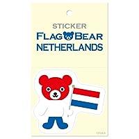 ムーングラフィックス ステッカー 国旗 クマ オランダ L FBL32