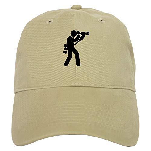 CafePress Photography Baseball Cap with Adjustable Closure, Unique Printed Baseball Hat Khaki
