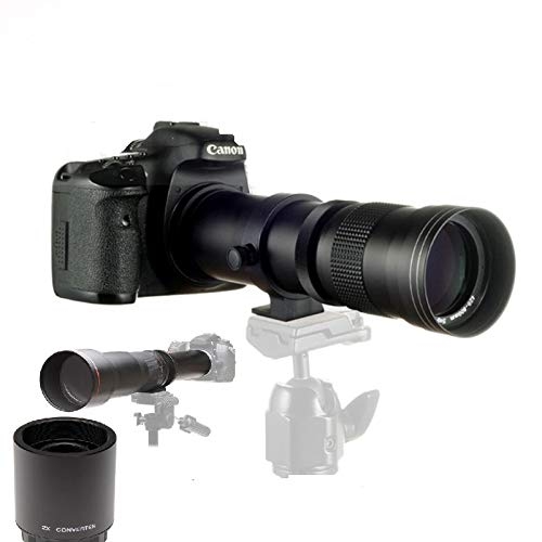 JINTU 420-1600mm f8 HD Telefoto Zoom Lente Manual Para Nikon DSLR Cámaras...