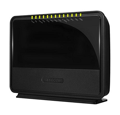 Sitecom AC750 Modem Router Wi-Fi Dualband, VDSL2, Nero/Antracite