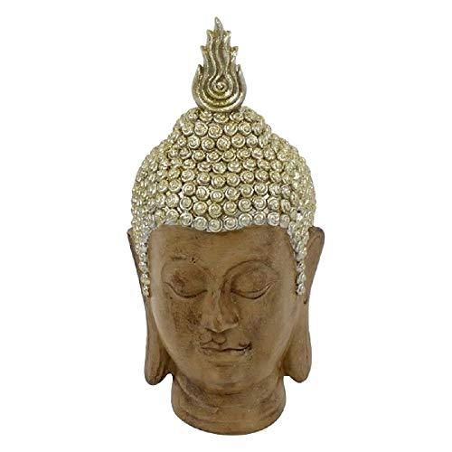 Werner Voß Buddha Kopf beige Gold Polyresin,28x31x62 cm