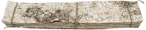 Birkenplatte 48 x 9 cm, 10 Stück, creme