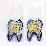 100 PCS Mixed Dental Temporary Crown Kit Anterior Front & Molar Posterior 50 of each